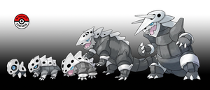304 - 306 Aron Line by InProgressPokemon