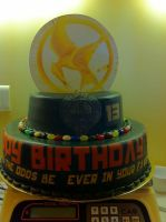 Hunger Games Birthday Cake by percyjacksonrulz