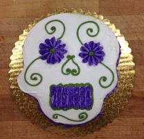 Day Of The Dead Skull Cake by LucyQ602