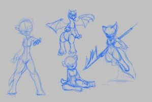 Sketch Page by TehFeeesh