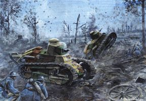 Renault FT-17 - Champagne 1918 by tuomaskoivurinne