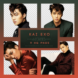 KAI (EXO) L'OPTIMUM JANUARY 2018 Png pack by RoxyNeonColors
