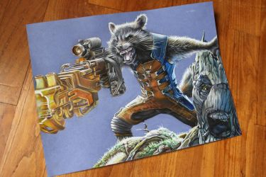 Rocket and Groot by clefchan