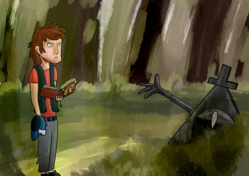 The 4th journal l Gravity Falls fanart by Saurial