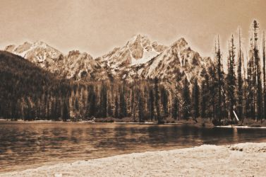 Sepia Stanley Lake by Samtian