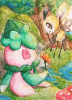 ACEO: Formantis and Ribombee