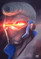 Soldier 76 and New hairstyle by Karnhooo