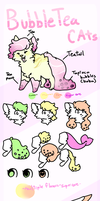 BubbleTea Cats Reference Sheet by PythonKitten