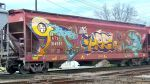 Grain Car Cat Graffiti by MikeK4ICY