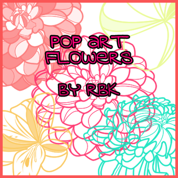 Pop Art Flowers by redbonniekidd
