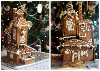 The Burrow Gingerbread House by tigerlily003