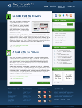 Blog Template 01 by rthaut