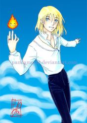 Howl et Calcifer colored by JPepArt