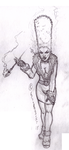 5$ Single Character Sketch #6 - Asphyxia by Speedslide