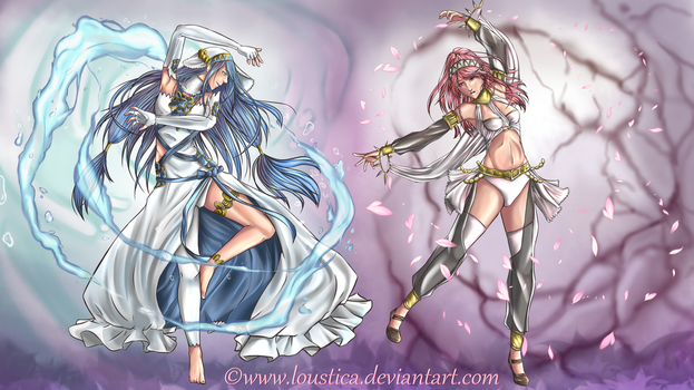 FE: Azura and Olivia [Wallpaper//2K] by Loustica