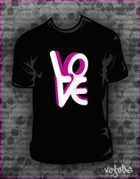 Love mono t-shirt design by VoYtHAs
