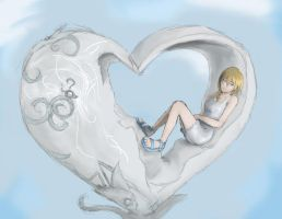 + namine + half a glass heart by KittyStorm