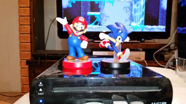 Mario and Sonic Amiibo by Just-Call-Me-Sonic