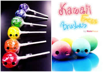 Kawaii Faces Brushes by KeinHase