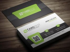 Clean diagonal lines corporate business card psd by mengloong on free green qr code business card template by mengloong accmission Choice Image
