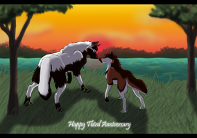 Happy Three Years Love by wolfyrose623
