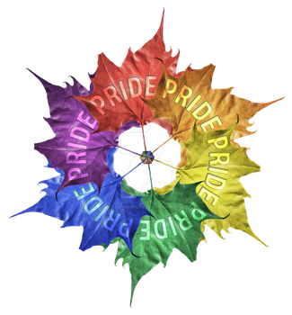 Leaf Pride Pinwheel by technoqueer