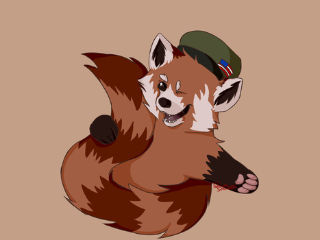 Red Panda (Gift for a friend) by SmitchArt