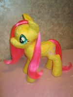 Brushable mane Fluttershy plushie, YAY! by Zooher-Punkcloud