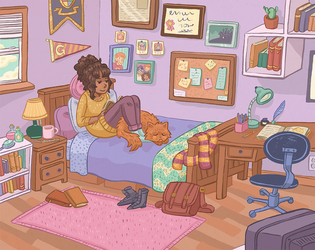 Hermione's Room by kaykedrawsthings