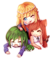 Cheeb Trio (Commission) by Zharleste