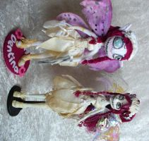 OOAKs - Dentina felt version and Monster High by redmermaidwerewolf