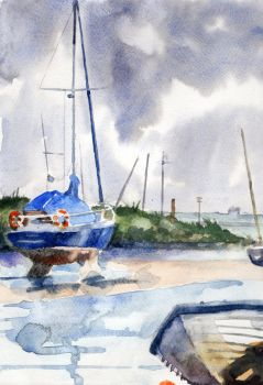 boats and storm by Ardillas