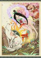 Amaterasu and Sakuya by Aerinn-I