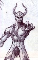 Demon, the flawed Goat Man by InkF301