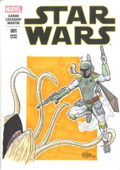 Boba Fett Sketch Cover 2 by GordZee
