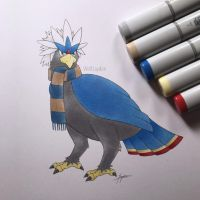 Ravenclaw Braviary by WolfJayden