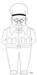 Arthur Lowe in 'Dad's Army' by Sepulchrave