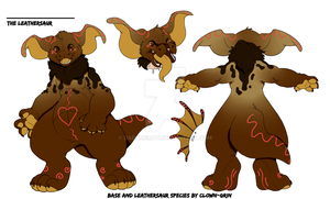 Chocolate themed Leathersaur CLOSED by Darumemay