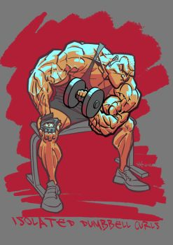 Isolated Dumbbell Curls by StraightEdge1977