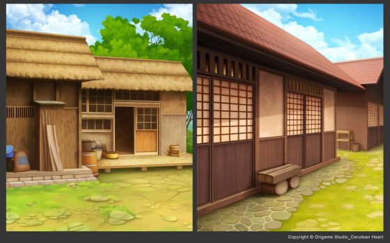 Japanese Rural Hut Outdoor by CiCiY