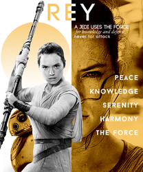 Rey Fan Poster by mercscilla