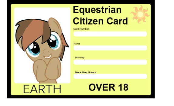 Equestrian citizens card by mlpsketches