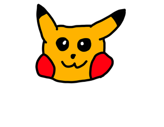 Pikachu Face Drawing Pad Test by AceOfSpadesProduc100
