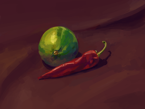 Lime and pepper by LittleLittleMuy