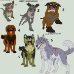 Dog Point Adoptables 1 GONE by Kasara-Designs