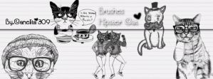 Brushes Hipster Cats By Canelita309 by SriitaDeWatt