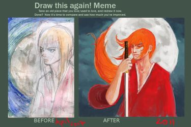 Meme before and after by kiradream