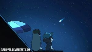 Wendy and Dipper - Look at the Sky by elfdipper