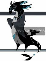 Shadow dragon adoptable CLOSED #3 by AS-Adoptables