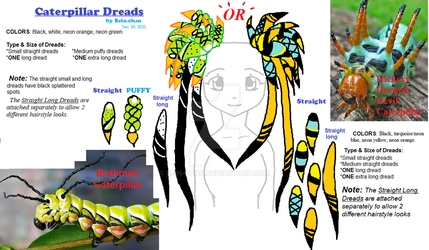 Caterpillar Dreads:Brahmea_Hickory Horned Devil by Rein-chan